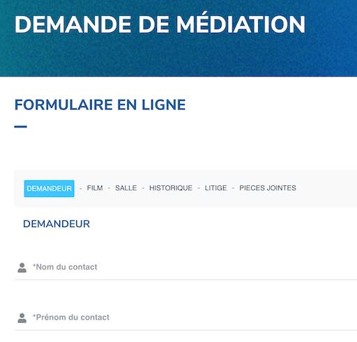 Forumulaire en ligne de médiation