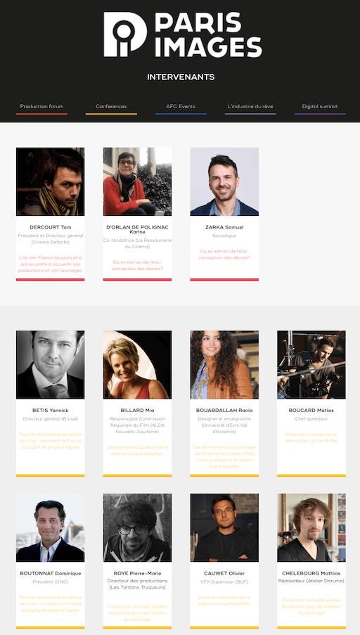 Intervenants évènement en ligne