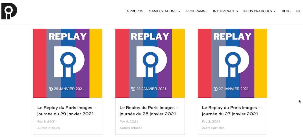 Replay evenement en ligne