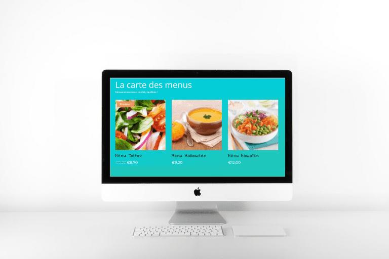 Site web restauration en ligne